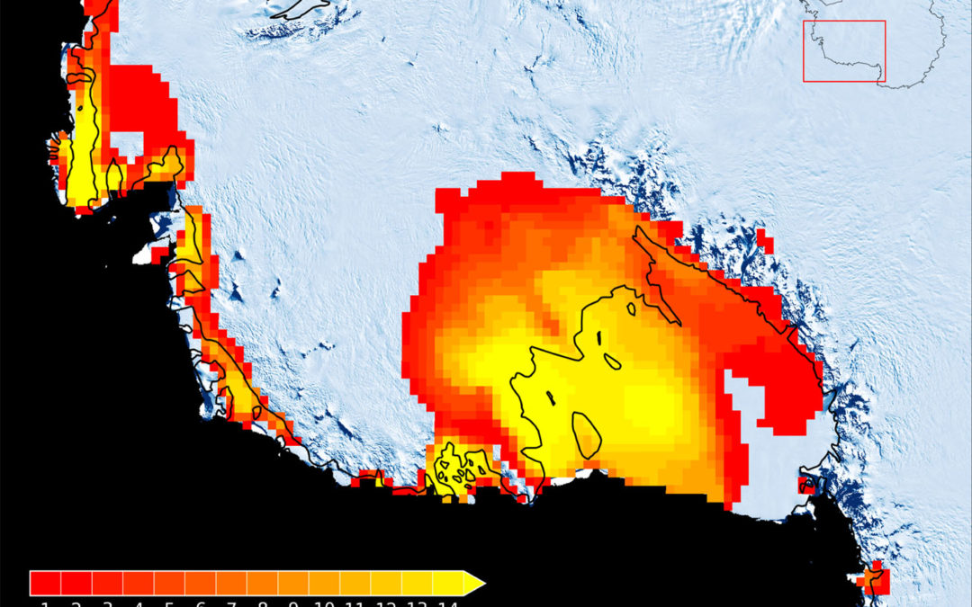 Scientists stunned by Antarctic rainfall and a melt area bigger than Texas