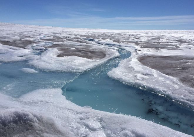 Sea level fears as Greenland darkens