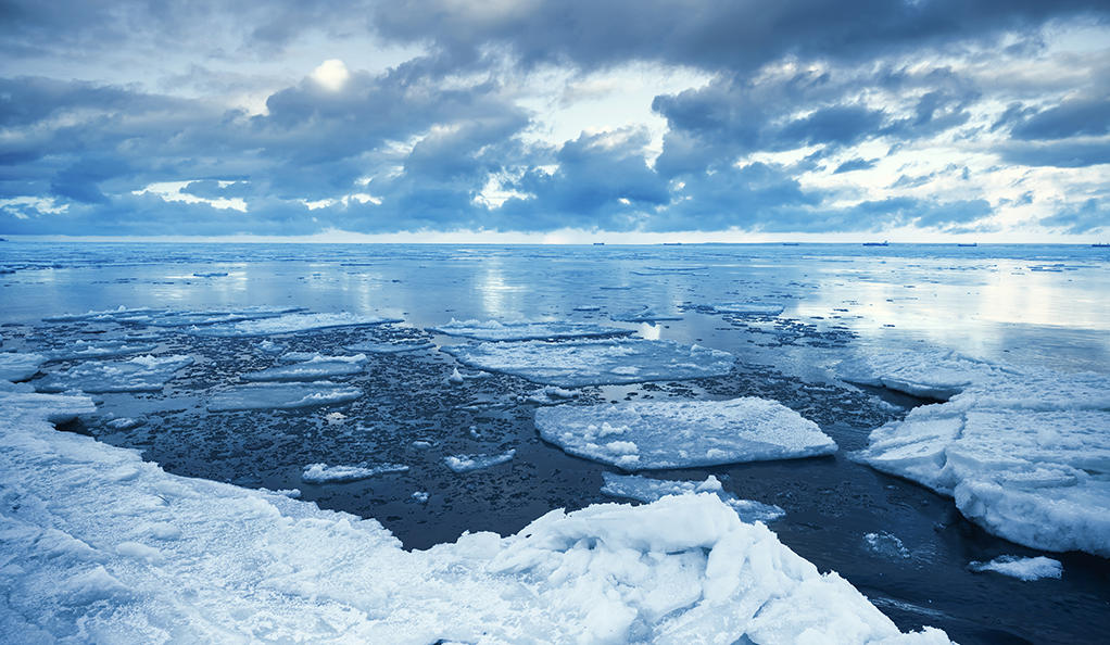 Loss of Arctic sea ice impacting Atlantic Ocean water circulation system