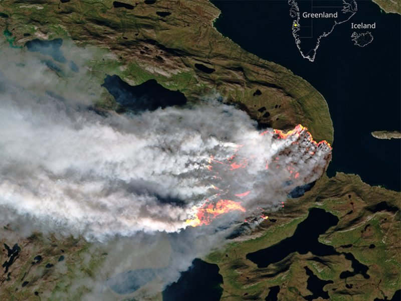 Greenland Fires Ignite Climate Change Fears