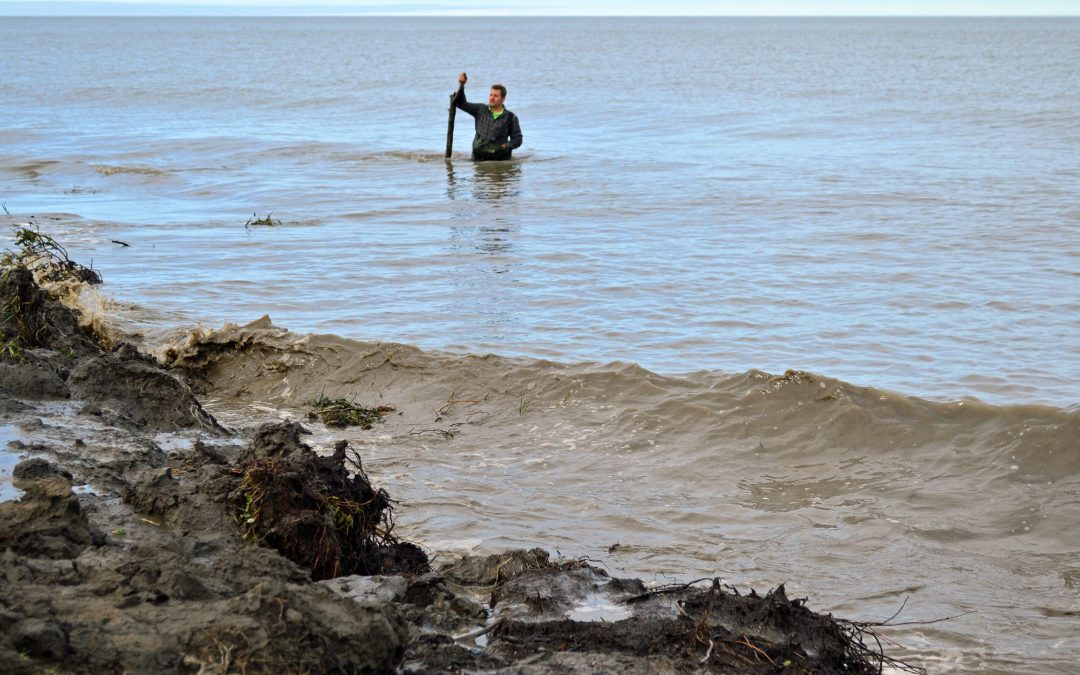 Sinking into the sea: The coastline of the Northwest Territories is  eroding faster than scientists can measure it