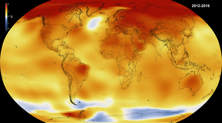 Record Jump in 2014-2016 Temps Largest Since 1900