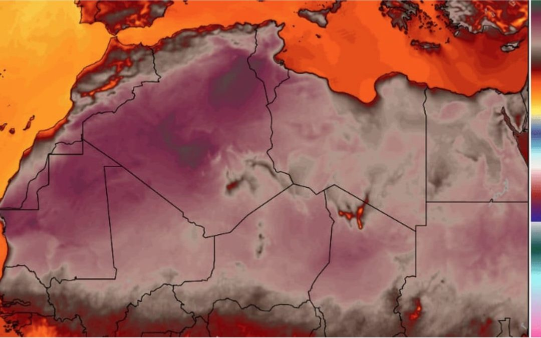 Africa may have witnessed its all-time hottest temperature Thursday: 124 degrees in Algeria