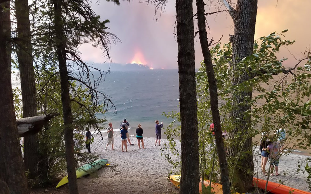 Glacier National Park is on fire — and yes, warming is making things worse