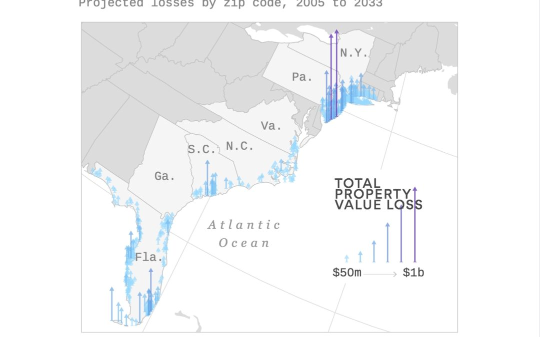 Sea level rise already causing billions in home value to disappear