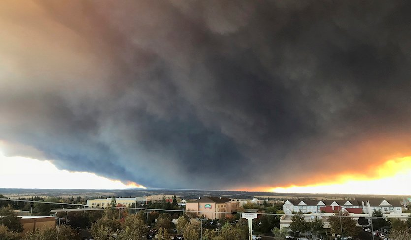 Major Fire Threat in California