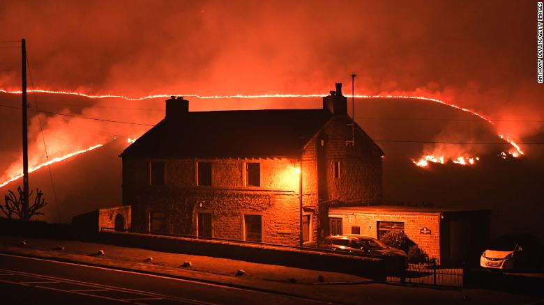 Wildfires break out across the UK after hottest winter day on record