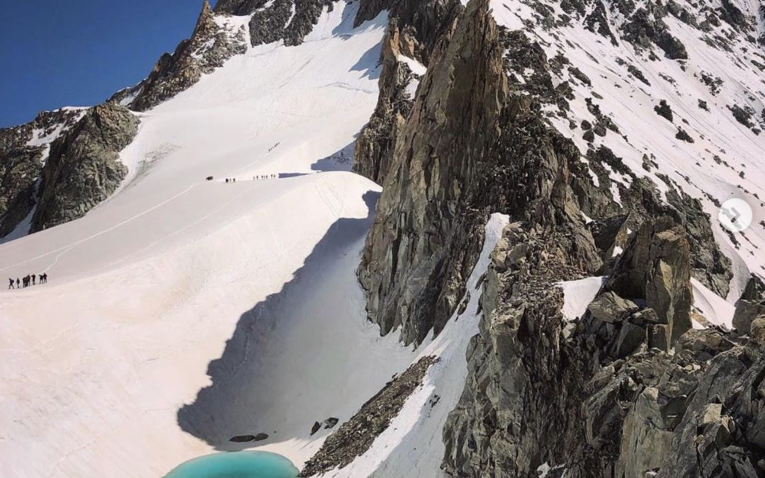 Lake discovered 11,000ft high in the Alps, in 'truly alarming' sign of climate change
