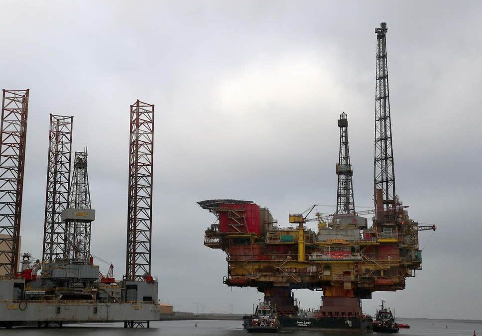 North Sea oil rigs set to be abandoned while still full of crude oil and chemicals