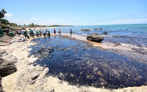 Thousands of troops deployed by Brazil amid fury at worst oil spill in country's history