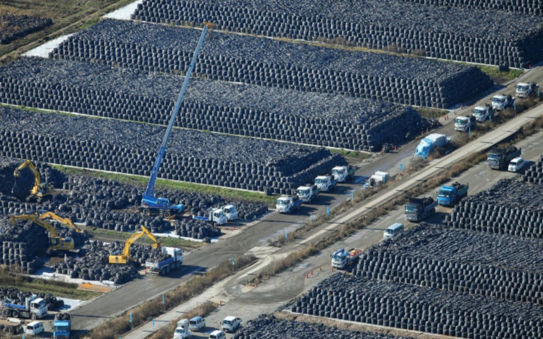 Over 9 million bags of nuclear cleanup waste piled up across Fukushima Pref.