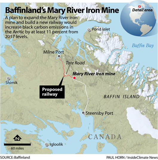 On Baffin Island in the Fragile Canadian Arctic, an Iron Ore Mine Spews Black Carbon