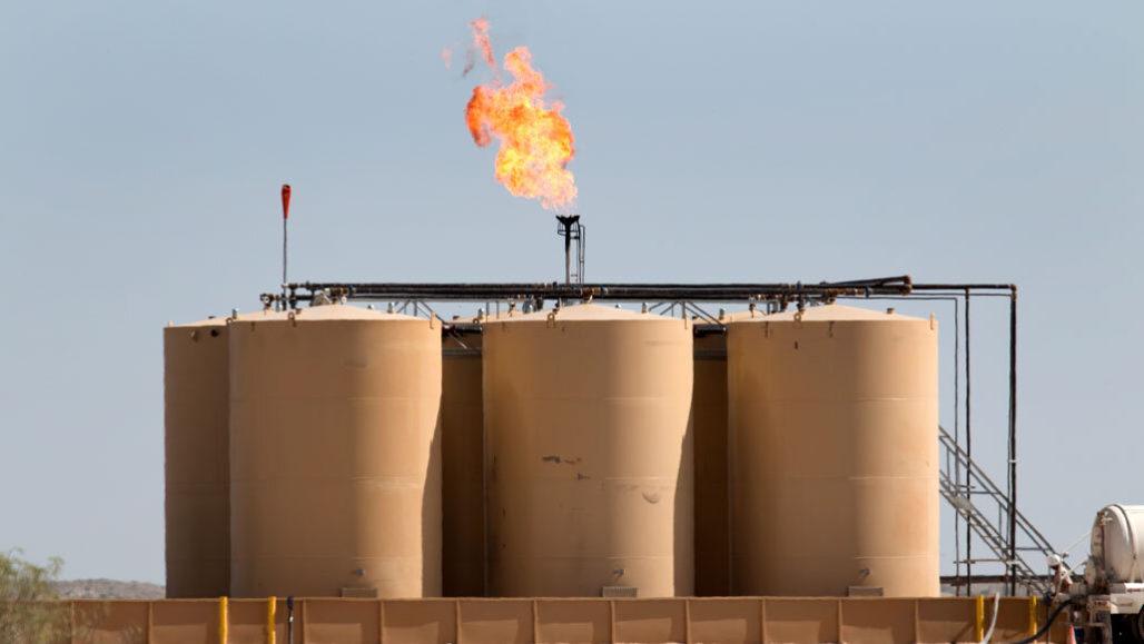 Methane flaring in Texas