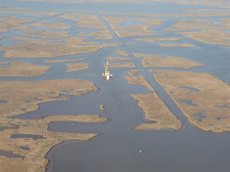 Mississippi Delta marshes in a state of irreversible collapse