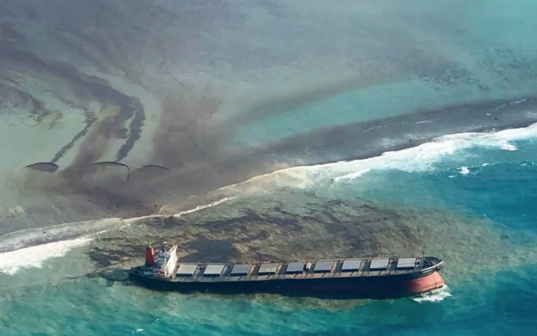 Mauritius races to contain oil spill, protect coastline amid high winds, rough seas