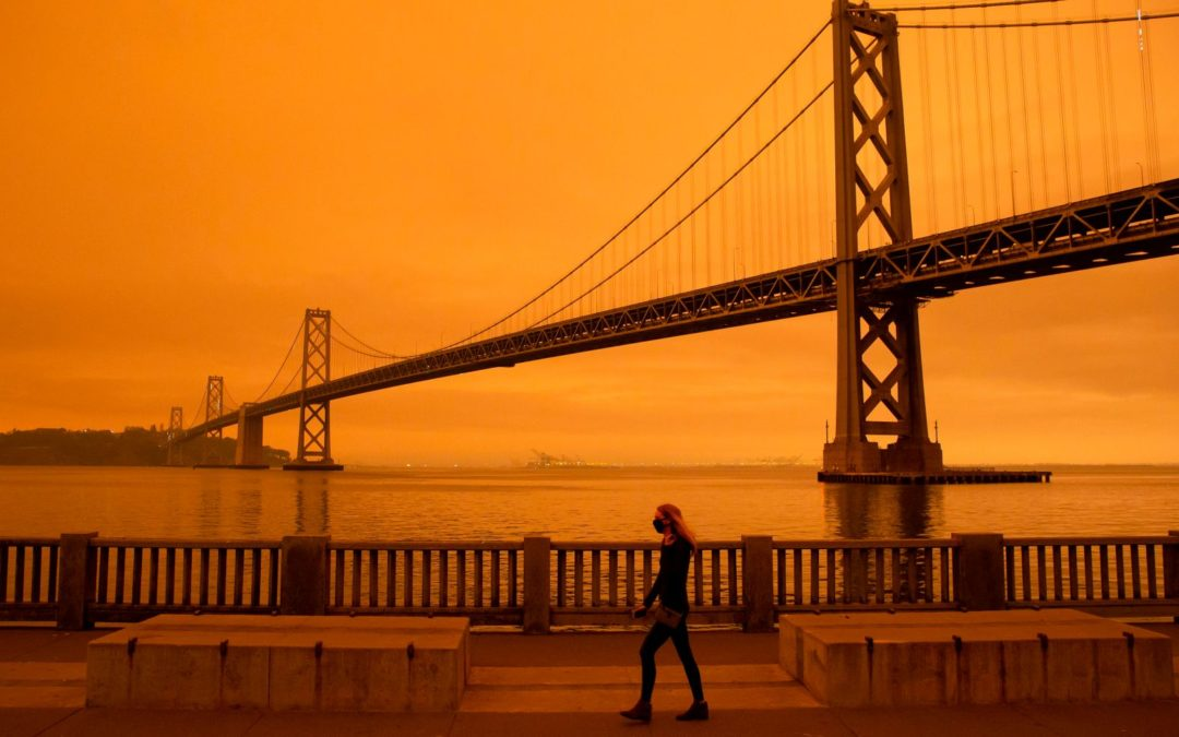 An orange smoke-filled sky in San Francisco on Sept. 9, 2020