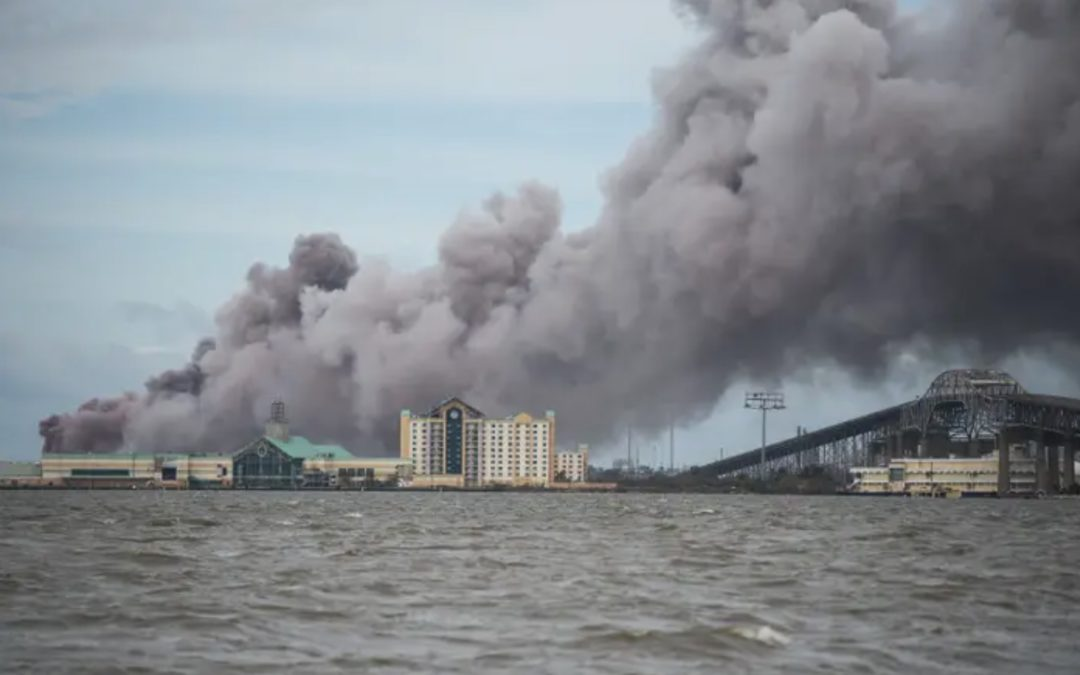 Chemical plant fire in Lake Charles