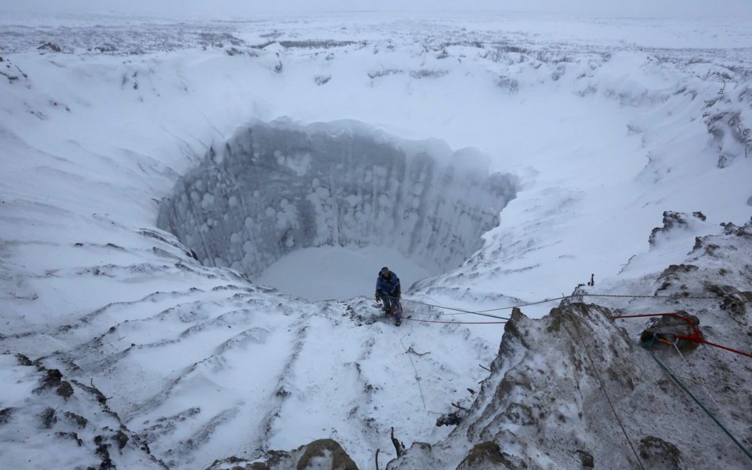 Land in Russia's Arctic Blows 'Like a Bottle of Champagne'